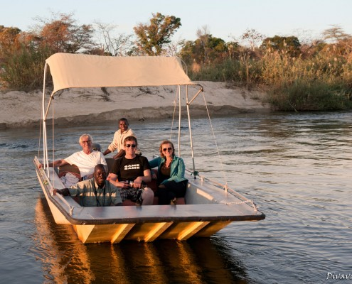 Our small boat for boat trips and fishing