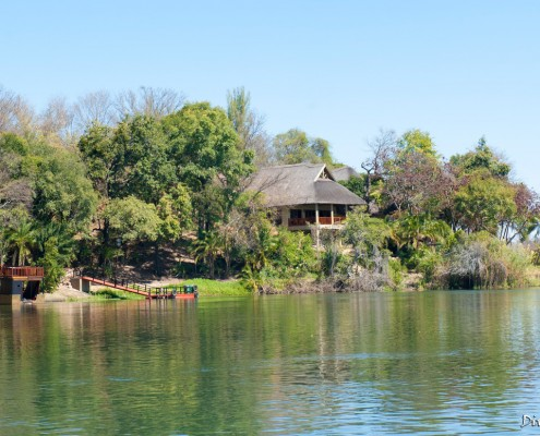 The main building from the Okavango river.